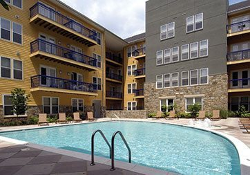 Pool area at Rockville Crest at Congressional Plaza