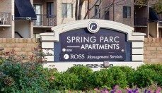Spring Parc Apartments exterior sign