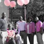 ROSS Companies Employees Pose for a Photo During Think Pink Office Week