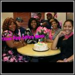 Group of ROSS Companies' Employees Celebrate Think Pink Office Week with Cake