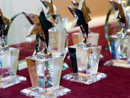 ROSS Management Services' Marketing and Advertising Excellence (MAE) Awards on a Table 3