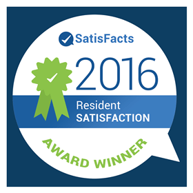 ROSS Management Services' SatisFacts Resident Satisfaction Award 2016 Logo