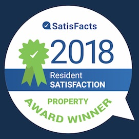2018 Satisfacts Resident Satisfaction Award Seal
